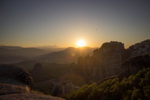 Meteora Greece sunset