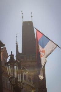 Prague Czech flag