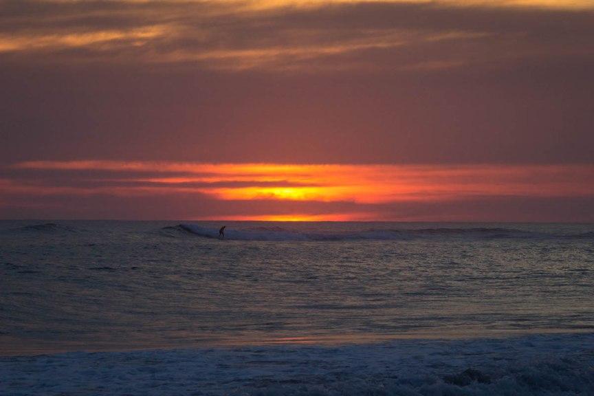 El Tunco El Salvador surfer sunset