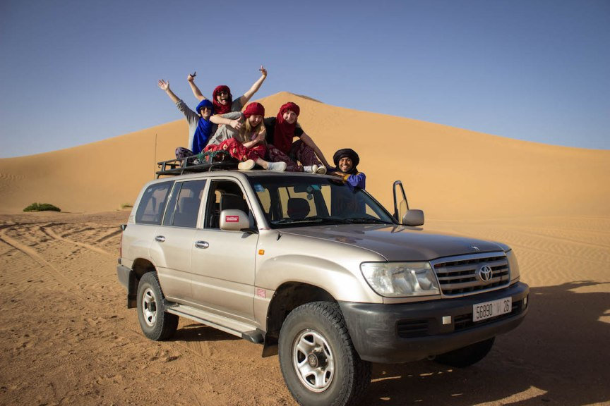 riding on top of cars Morocco photos