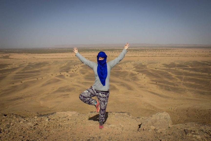 Tree pose Morocco Great Escape