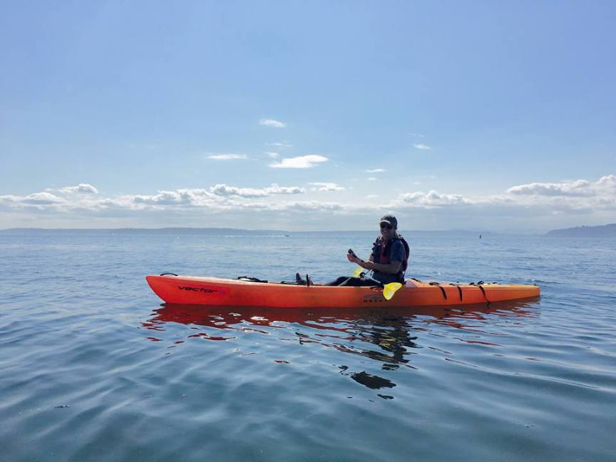 [img] sea kayaking Puget Sound