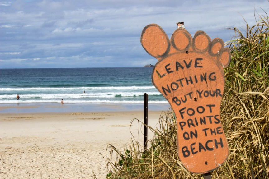 [img] Byron Bay beach sign Great Escape Monthly Review