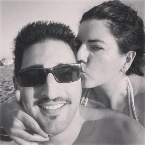 Con Lorena en Playa