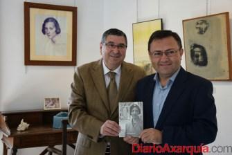 08022016 - Miguel Ángel Heredia y Antonio Moreno en visita Fundación María Zambrano_01
