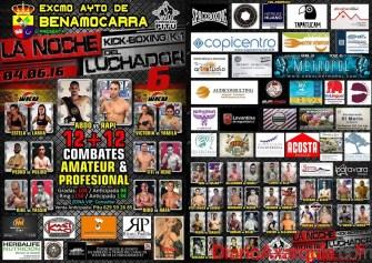 Cartel La Noche del Luchador 6 en Benamocarra