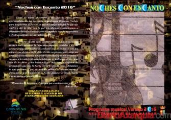 NOCHES CON ENCANTO 2016 Portada