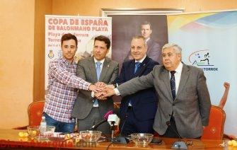 Presentación Copa España Balonmano Playa 27 abril