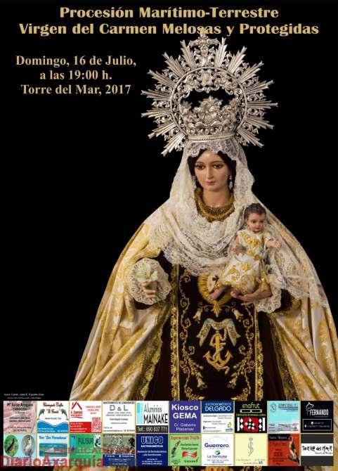 Procesión Marítimo-Terrestre Virgen del Carmen Melosas y Protegidas Torre del Mar