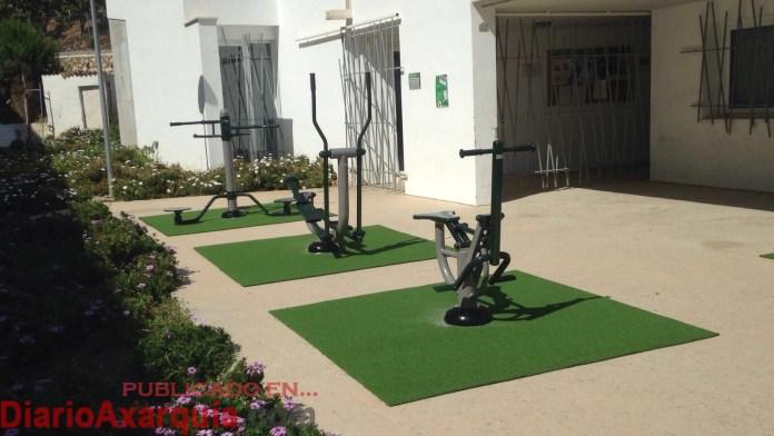 Zona verde-deportiva en Mequitilla.