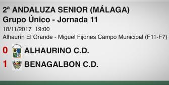El Benagalbón gana en el Miguel Fijones y se trae los puntos a la Axarquía (0-1)