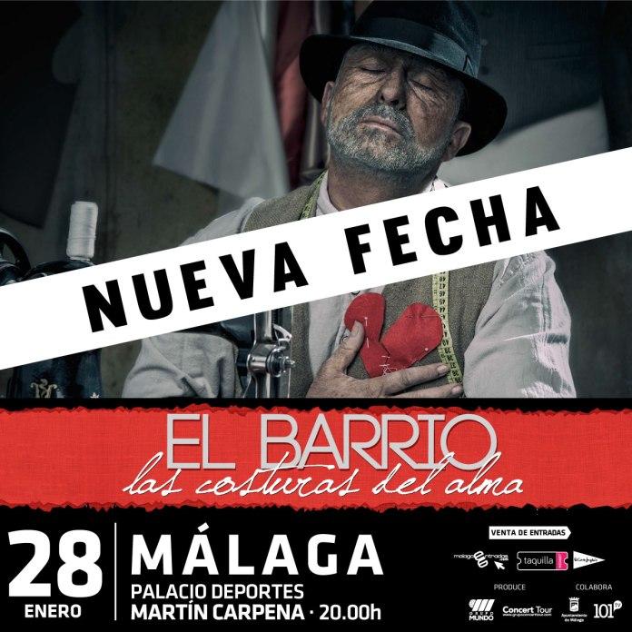 El Barrio anuncia un segundo concierto en Málaga el 28 de enero