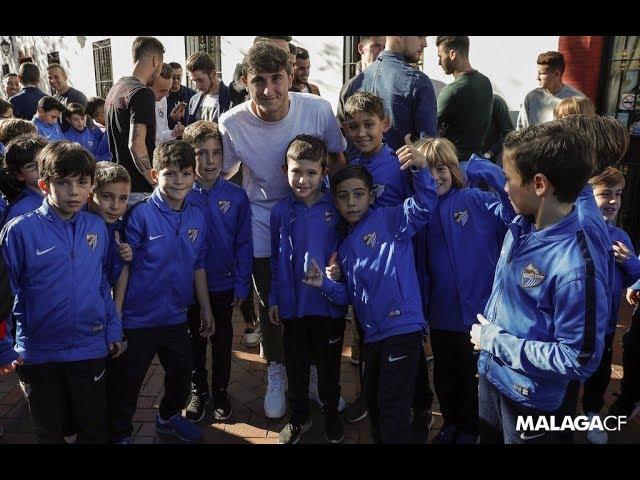 La Academia del Málaga CF se reúne por Navidad