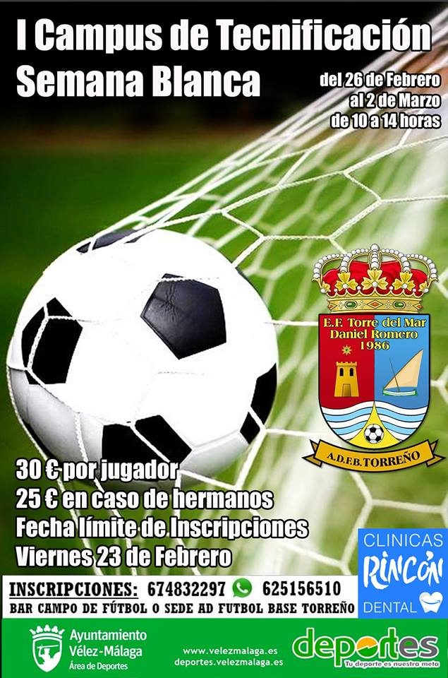 La Escuela de Fútbol de Torre del Mar presenta su nuevo Campus de 'Semana Blanca'