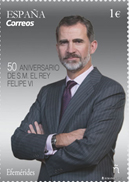 CORREOS presenta un sello conmemorativo con motivo del 50 aniversario del Rey Felipe VI