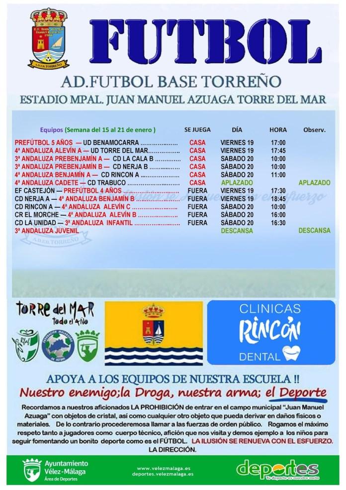 Partidos de la Escuela de Fútbol de Torre del Mar