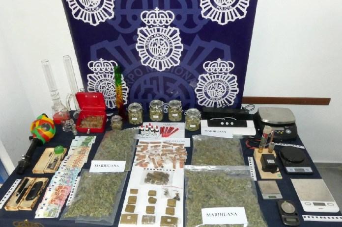 La Policía Nacional se incauta de marihuana y hachís en un local de una asociación a favor de la legalización del cannabis