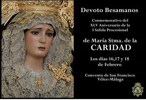 Devoto Besamanos a María Santísima de la Caridad con motivo de su XLV Aniversario Procesional