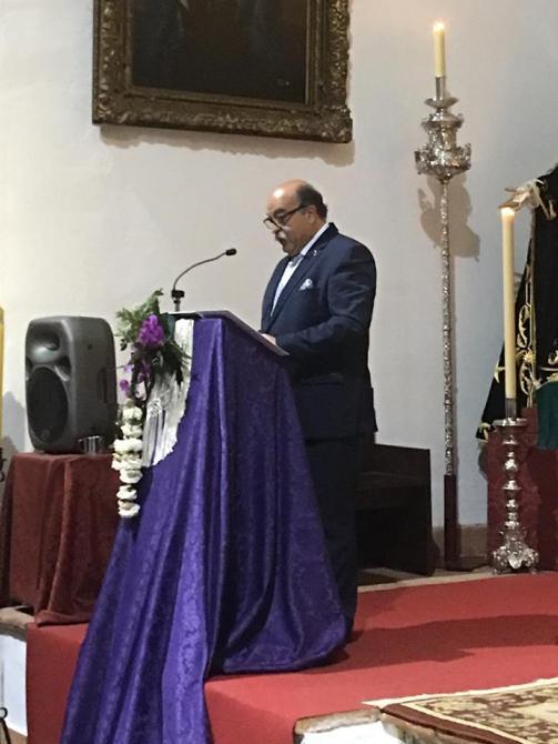 La cita también contó con el pregón a la Sagrada Titular a cargo de José Ruiz, que fue presentado por Lidia Sarmiento.
