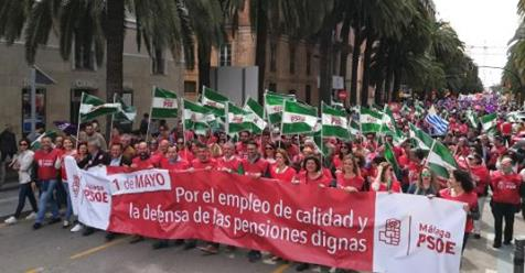 El PSOE reivindica el 1 de mayo la derogación de la reforma laboral del PP, pensiones dignas y acabar con la brecha salarial entre hombres y mujeres