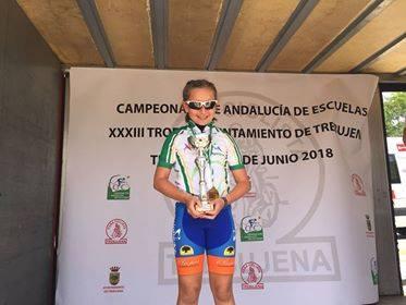 La ciclista del Club Montemar Axarquíay de 9 años de edad se proclamó campeona en la categoría de principiantes.