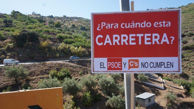 El PP reclama a la Junta que mejore la seguridad viaria en el corazón de la Axarquía
