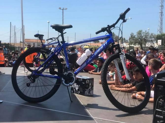 Sorteo de bicicletas en el Día del Pedal.