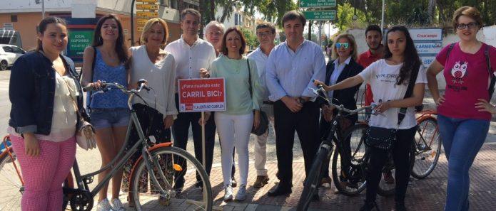 """El PP denuncia con un """"estacazo"""" la nula apuesta de la Junta por el transporte en bici"""