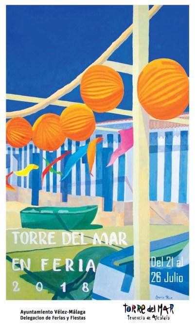 Presentado el cartel de la Feria de Santiago y Santa de Torre del Mar 2018, obra de María Ruiz Gámez