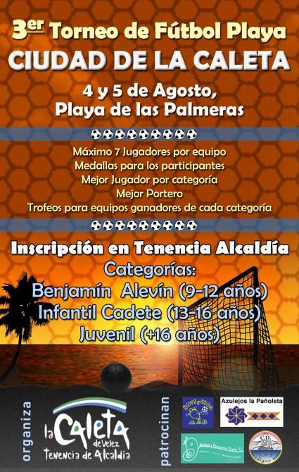 Presentado el III Torneo de Fútbol Playa 'Ciudad de la Caleta' en Vélez-Málaga