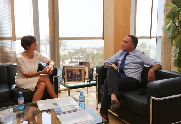 Bendodo recibe en la Diputación a María Gámez, nueva subdelegada del Gobierno en Málaga