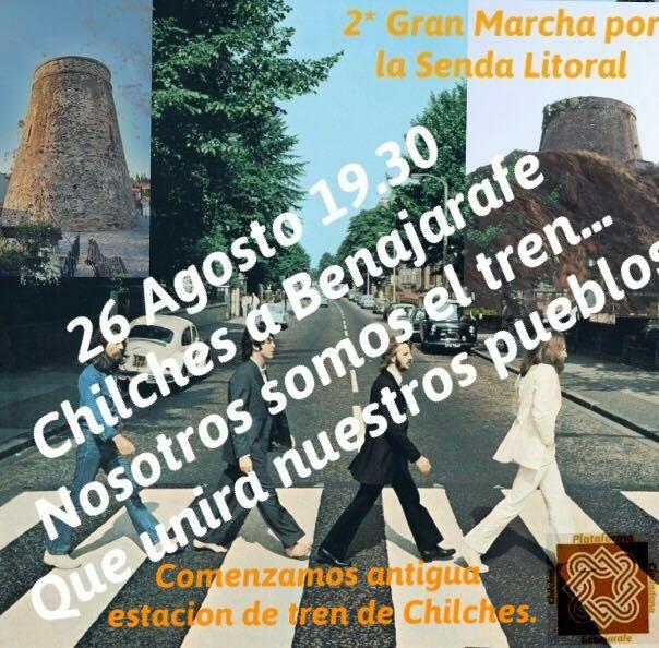 La Plataforma Ciudadana por Benajarafe y Chilches convoca la 2ª marcha por la Senda Litoral entre Benajarafe y Chilches