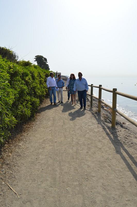 El sendero, que actualmente se encuentra muy degradado, se acondicionará con pavimento de madera.