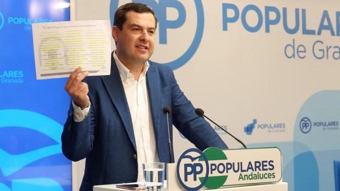 Candidatura para las Elecciones del 2 de diciembre del PP en Málaga liderada por Juan Manuel Moreno Bonilla