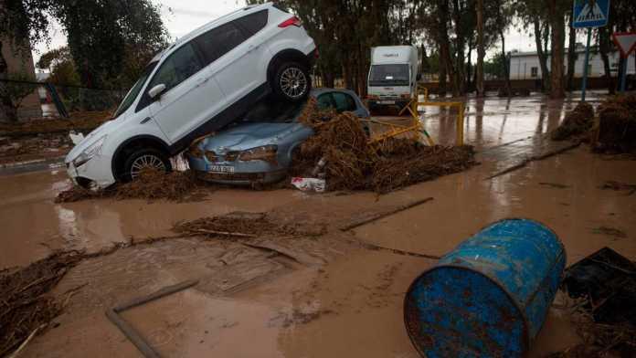 Vélez-Málaga recoge bienes de primera necesidad para los damnificados en las inundaciones de la provincia de Málaga