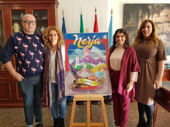 Nerja presenta su cartel de Navidad, obra de Sacramento Ruiz y Evaristo Jesús