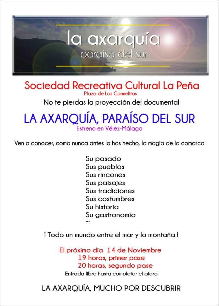 Hoy se presenta el documental 'Axarquia, Paraíso del Sur', de Claudio López