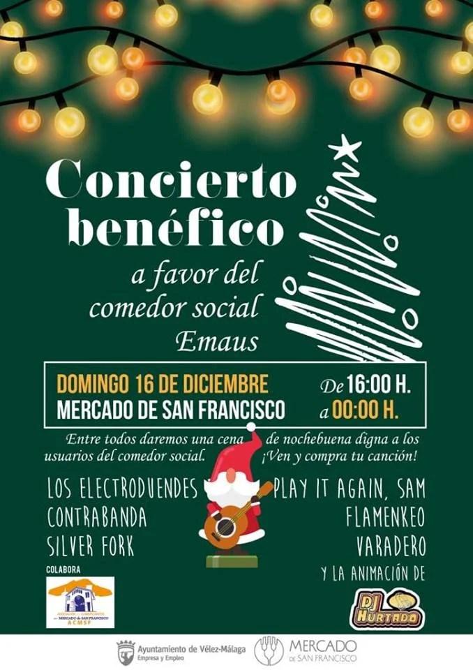 Concierto solidario a favor del comedor Emaús en el Mercado de San Francisco de Vélez-Málaga
