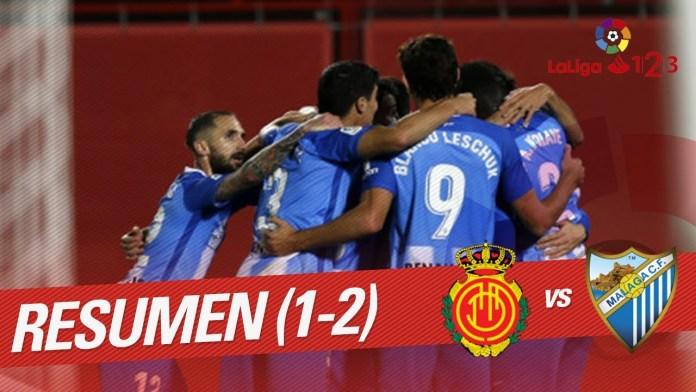 El Málaga CF se impone al RCD Mallorca con goles de Harper y Cifu (1-2)