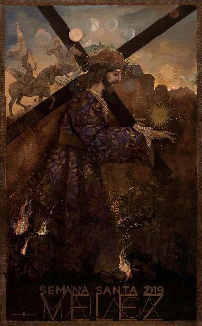 """El autor de la obra, el cordobés Jesús Zurita Villa, ha elegido en esta ocasión la imagen de Jesús Nazareno """"El Rico""""."""