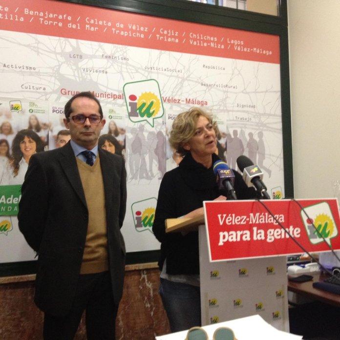 IU propone a Alicia Pérez para encabezar la candidatura de confluencia con Podemos en Vélez-Málaga