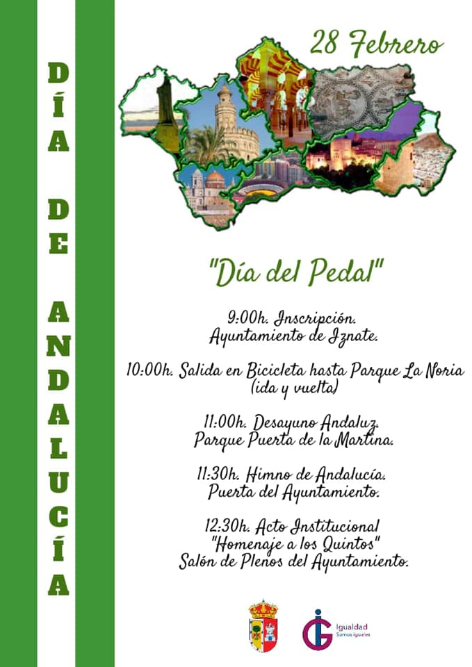 Iznate homenajeará el Día de Andalucía a los jóvenes que cumplen la mayoría de edad