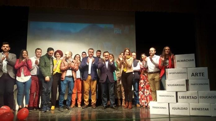 El PSOE de Almáchar presenta su candidatura para las Elecciones Municipales liderada por Antonio Yuste