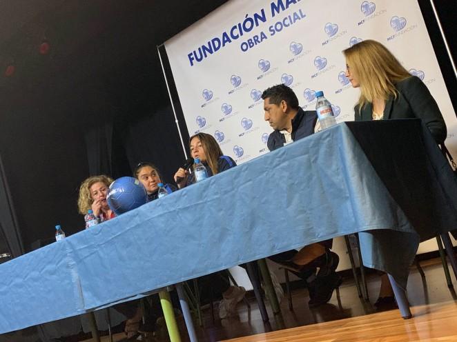 María Ruiz y Tamara, jugadoras del Málaga CF Femenino y Málaga Genuine, ejemplos de Igualdad ante los más jóvenes