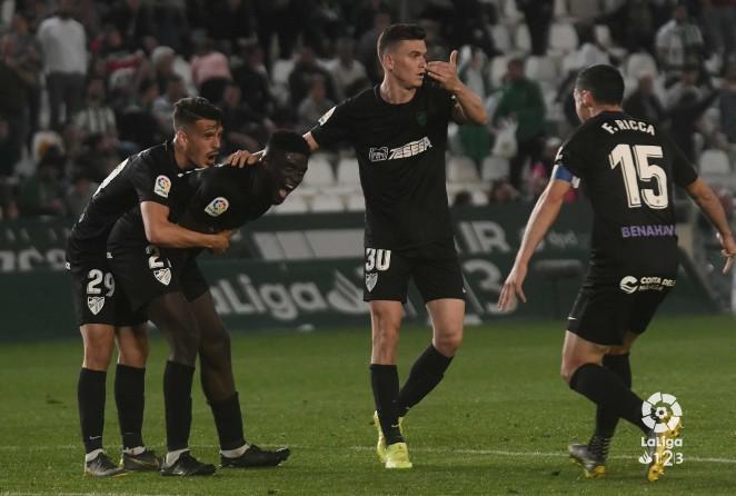 El cuadro malaguista dominó el encuentro y consiguió poner las tablas después de que el Córdoba CF se pusiera por delante en el minuto 60.