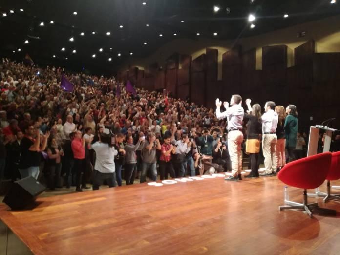 Líderes de la La coalición de Unidas Podemos en el mitin de Málaga. / IU MÁLAGA.