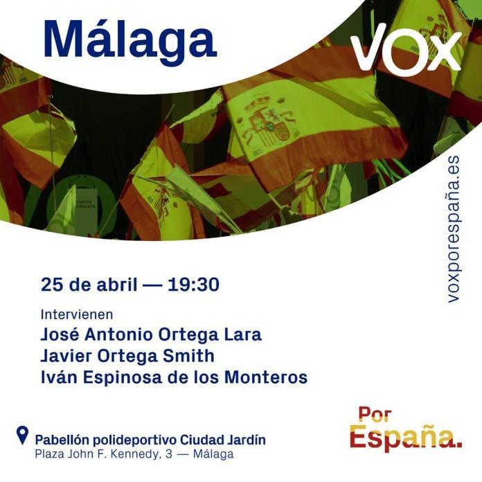 Mitin de VOX en Málaga con Ortega Lara y Ortega Smith