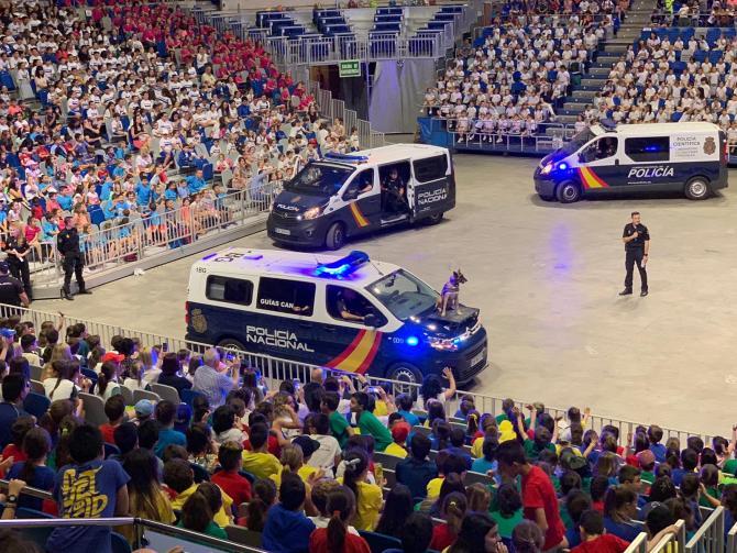 La Policía Nacional celebra en Málaga el IX Encuentro de Escolares con el Cuerpo Nacional de Policía