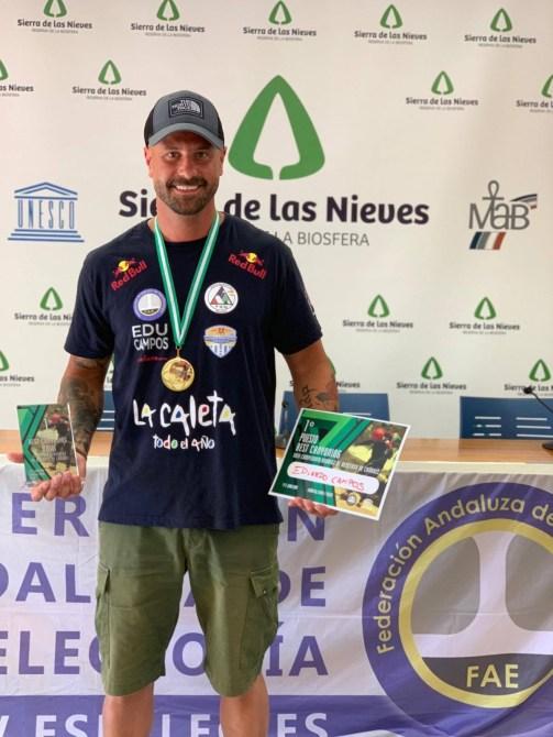 Eduardo Campos, del Club Running Playas de Torre del Mar, se proclama campeón de Andalucía en la modalidad deportiva de Descenso de Barrancos