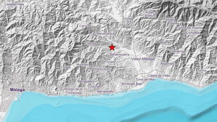 Registrado un ligero terremoto en la provincia de Málaga con epicentro en Benamargosa